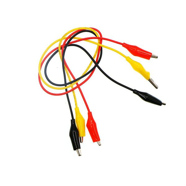 Alligator cables (Black ,Red ,Yellow) for micro:bit