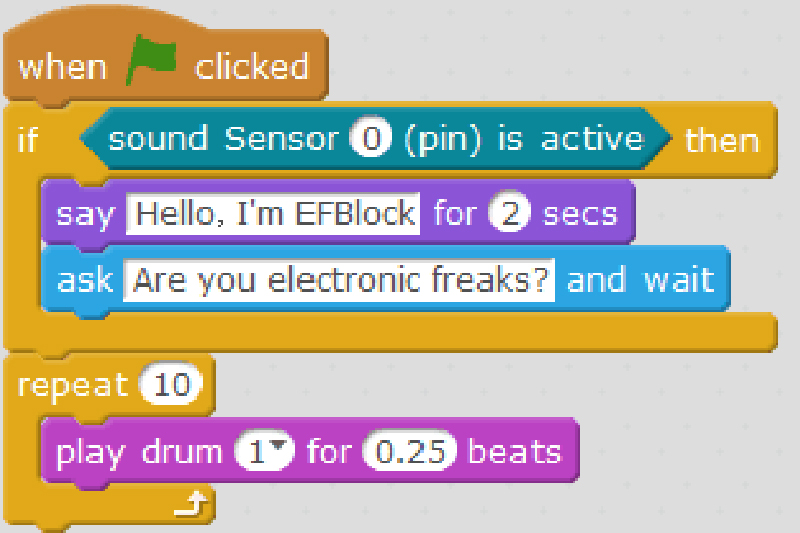 EFBlock--Elecfreaks Self-developed Pattern Programming Software
