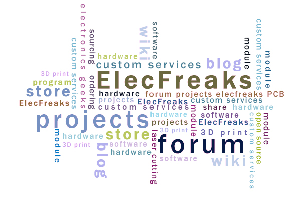 Make Noise in ElecFreaks New Sections: Forum and Projects