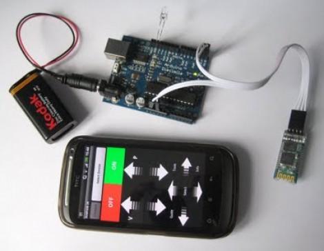 Bluetooth to IR remote control translator