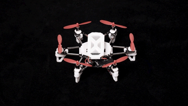ELF Drone, showing the 3D printed parts in white