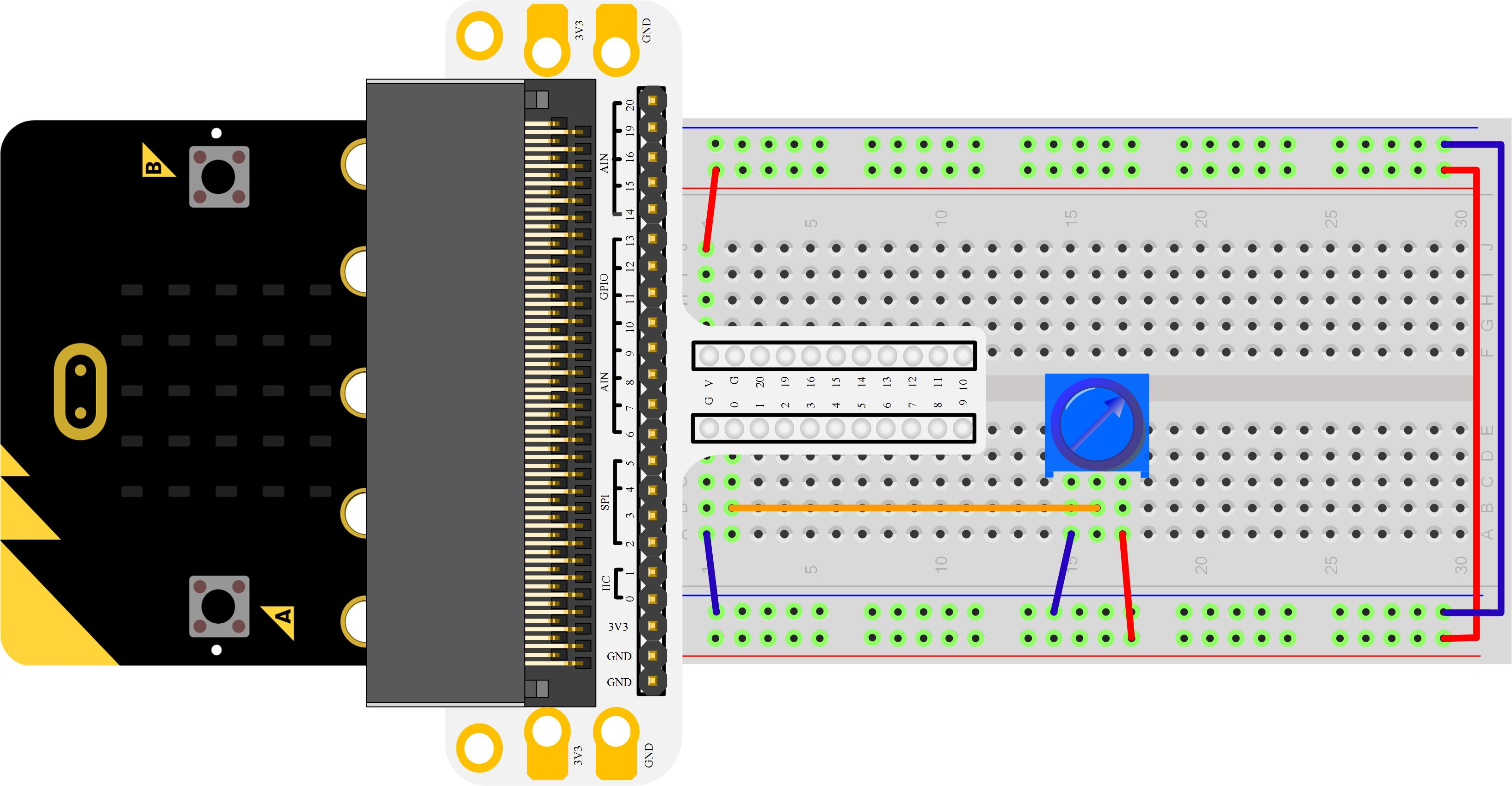 Micro:bit Experiment 03: Trimpot —???Elecfreaks Mirco: bit Starter Kit Course